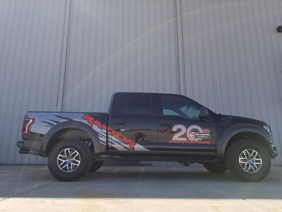 A drawing will be held for a Ford Raptor truck at the open house.