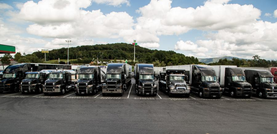 A convoy of 10 Mack trucks featuring several new Mack Anthem models recently traveled nearly 850 miles from Allentown, Pa. to Atlanta over two days, giving truckers and the general public their first look at Mack's new highway hero.