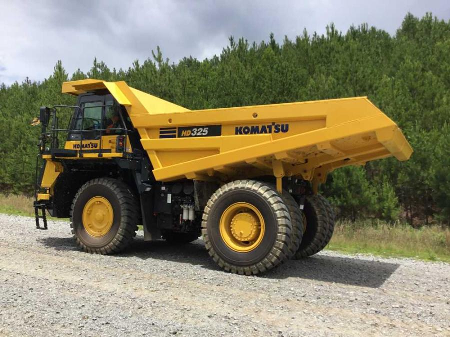 Komatsu America Corp.'s HD325-8 and HD405-8 off-highway trucks have payload capacities of 40.3 tons (36.5 t) and 44.1 tons (40 t), respectively, and replace the HD325-7 and HD405-7 models.