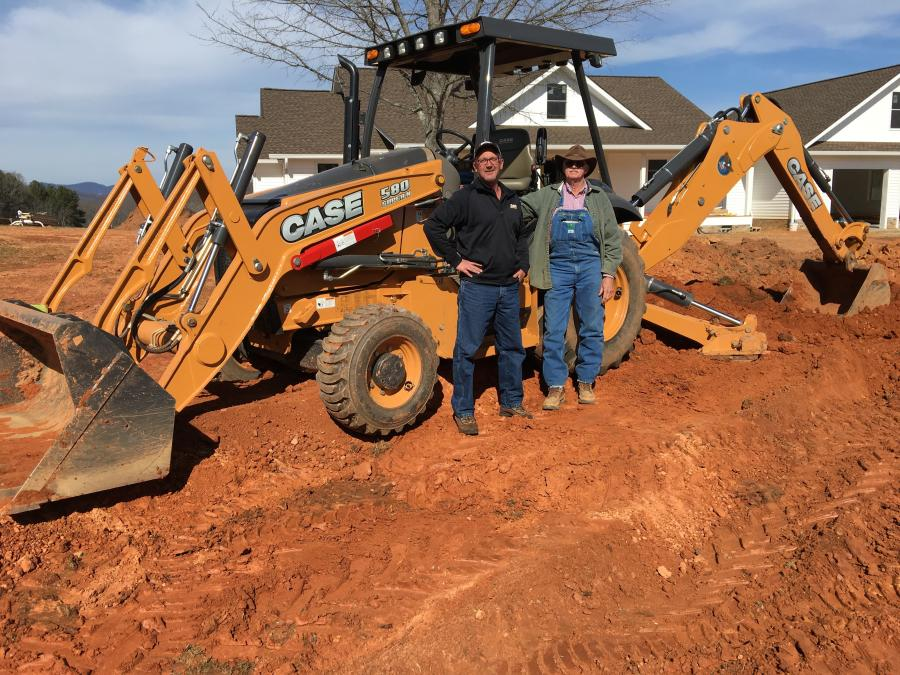 Todd Shearer (L) of Hills Machinery and Tony Hyder of Hyder Construction.