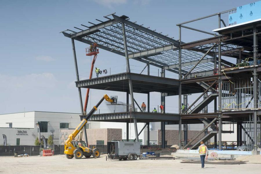 """At the stage we're at right now, the steel structure is up and we've started framing inside the building,"" said Chris Wilson, director of facilities and project manager. Wilson said that crews have also begun to install the building's electrical and HVAC."