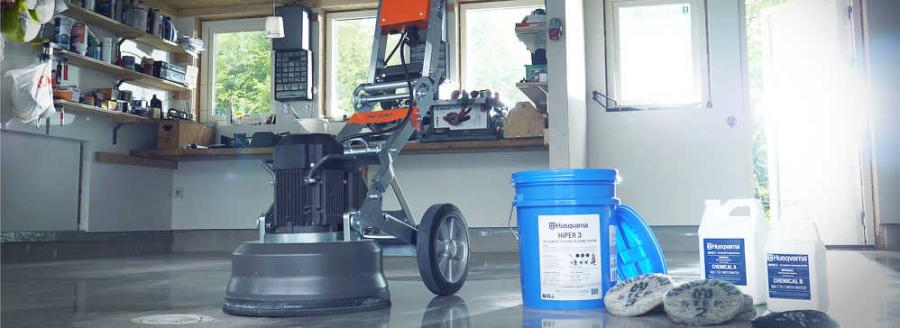 With a PG 450 grinder, S 26 vacuum and a pre-stocked bucket containing all the pads and chemicals needed, DIY enthusiasts can transform concrete floors from dull to attractive. The easy-to follow process ensures a smooth, shiny and aesthetically pleasing floor. The final, flat surface is also easy-to-maintain.