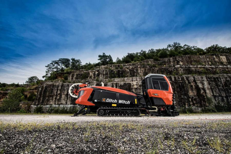 To enhance utility contractors' efficiency while drilling and steering in hard rock, Ditch Witch, a Charles Machine Works Company, has released the new AT40 All Terrain horizontal directional drill (HDD).