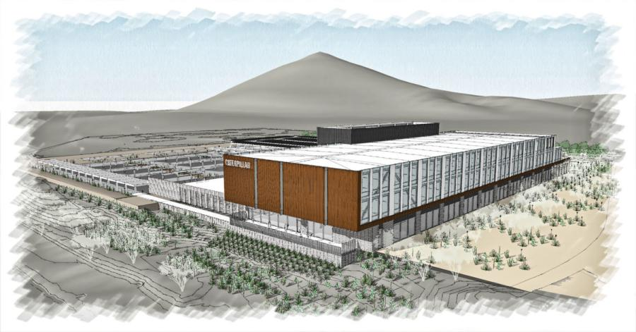A rendering of Caterpillar's Tucson Mining Center.