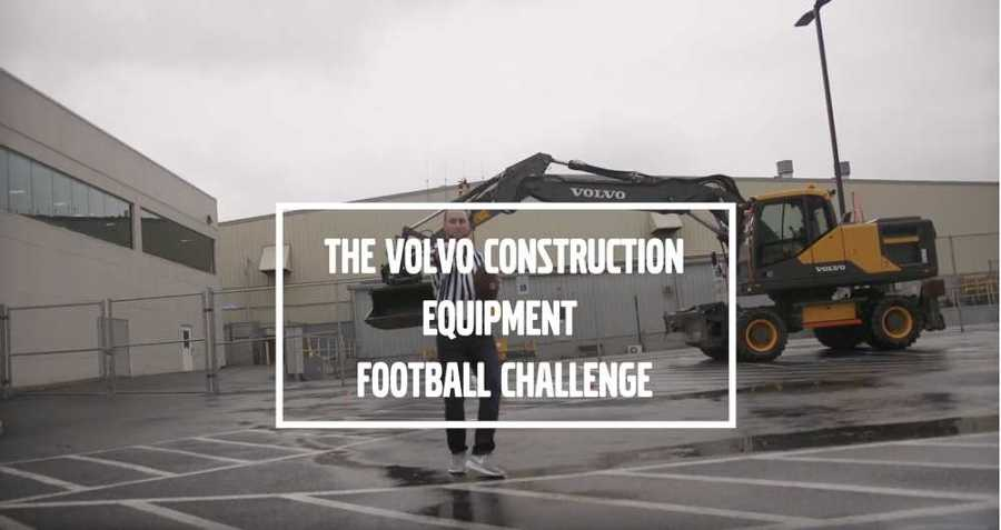 To get in the spirit of football season, Volvo CE's Shippensburg employees are taking part in a unique challenge.