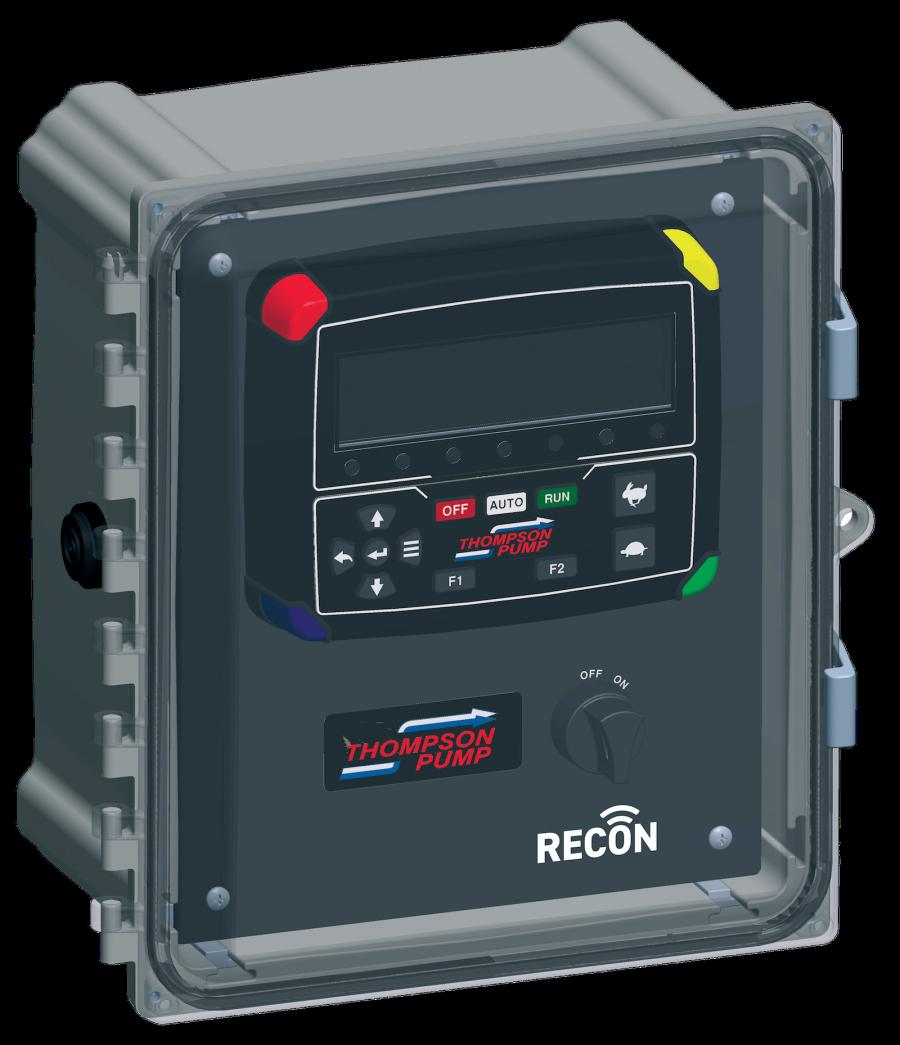 hrough a telemetry add-on, the RECON2000T allows for remote pump control and monitoring. The innovative control panel allows for pump operation and performance supervision from a smartphone, laptop, desktop computer or other devices with Internet access.