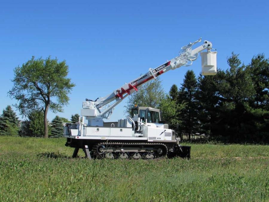 The new Terramac RT6 can be customized with a variety of support equipment, including a digger derrick, bucket lift and pole setter.