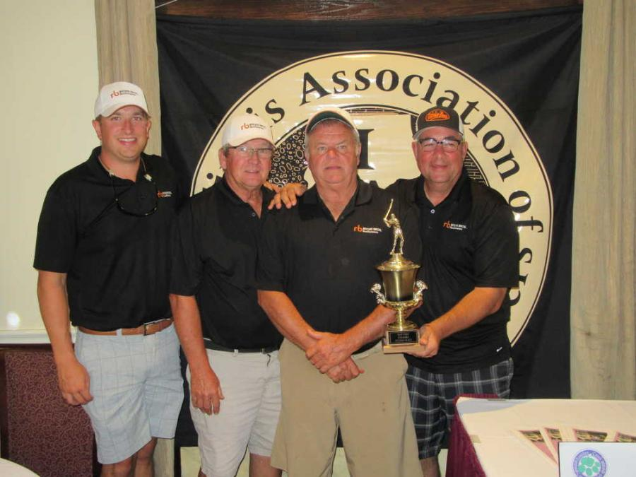 Ritchie Bros.' team (L-R) Jacob Hopper, Bill Fehrenbacher, Don Cunningham and Rich Evans took home the first place trophy.