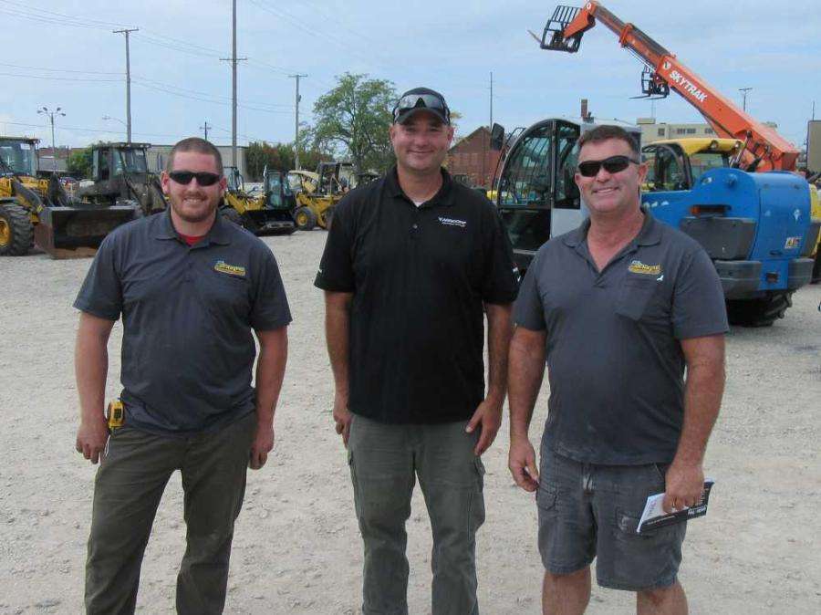 (L-R): Matt Albright of Haynes Construction, catches up with Roberto Armbruster of Aggcorp and Mark Haynes, also of Haynes Construction.