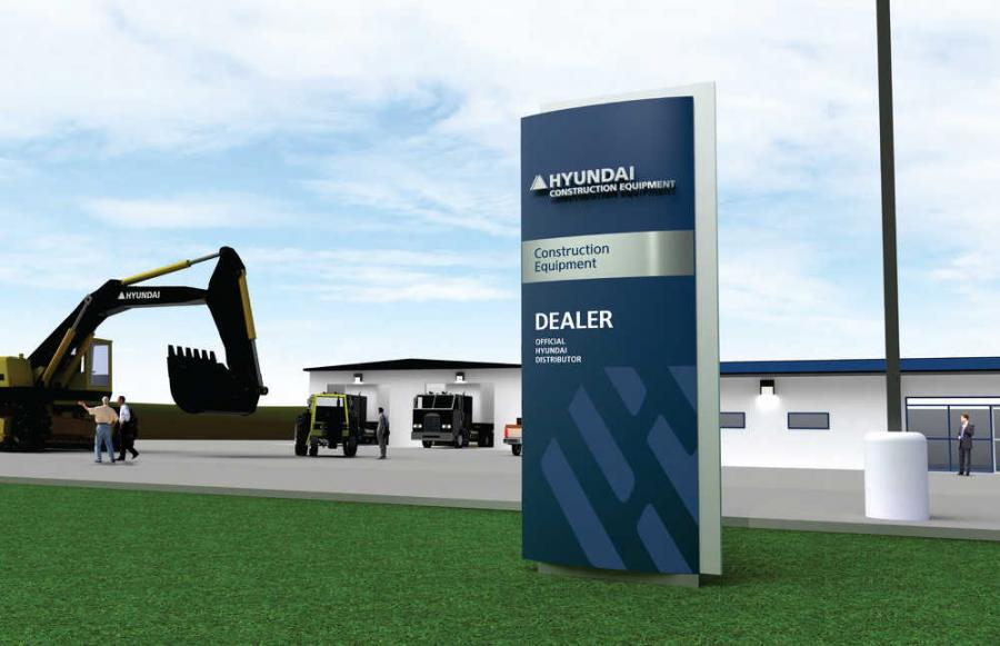 Hyundai Construction Equipment Americas announced the rollout of a comprehensive, new dealer signage program, employing a new logo treatment that reflects the global corporate identity guidelines.