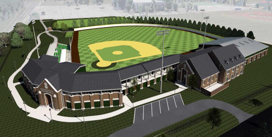 A rendering of the new Jacksonville State University baseball stadium. (Davis Architects rendering)