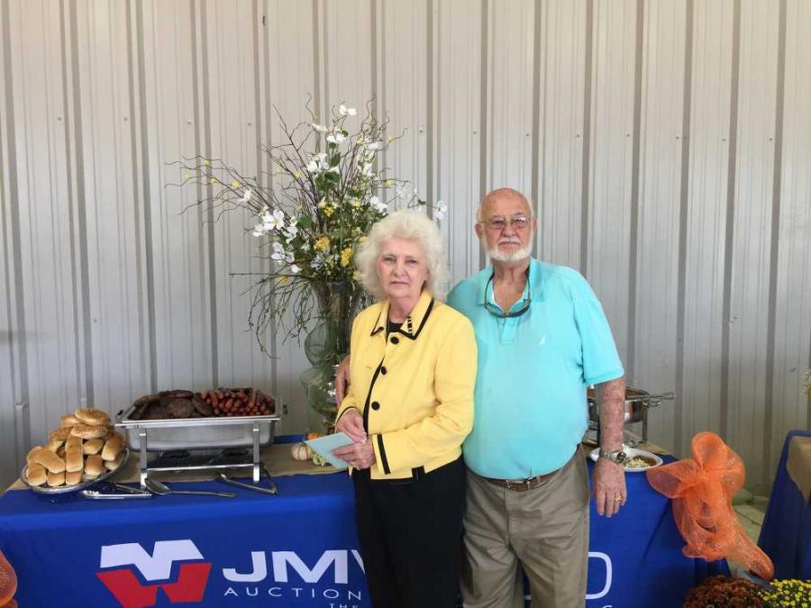 Jan and Gerald Beckwith, both of JM Wood, enjoy the birthday festivities.