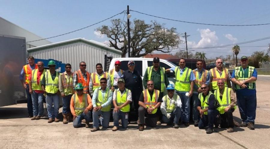 Heavy equipment operators, superintendents, field crew members, subcontractors and employees from all different backgrounds and specialties joined forces to assist with clean-up efforts after Hurricane Harvey. (Harbor Bridge Project photo)