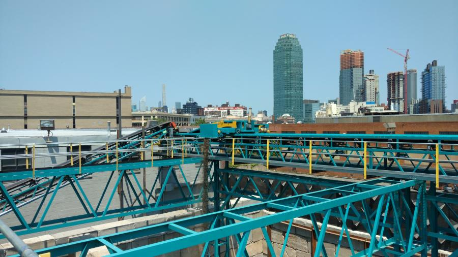 Ace Equipment Sales was able to design and engineer a conveyor system with tripper cars that allows Hunters Point Recycling to operate a full service materials processing center within a 30,000 sq. ft. lot.