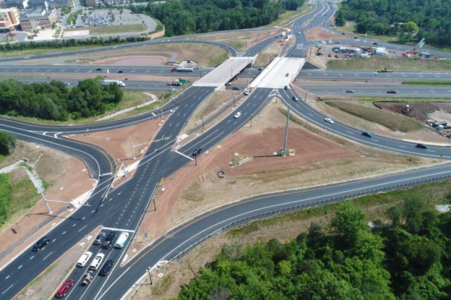 The Virginia Department of Transportation, the town of Haymarket and Prince William County celebrated the completion of Northern Virginia's first diverging-diamond interchange (DDI) on Aug. 22 at I-66 and Route 15.