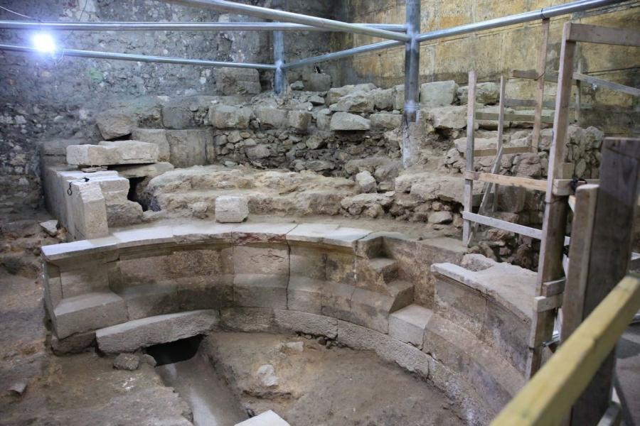 "The covered theater is much smaller than most other Roman theaters, and archaeologists think that this particular facility was known to the Romans either as an ""odeon,"" which would have been used to acoustic performances, or a ""bouleuterion,"" which was a building where city council members met, Haaretz reported.(Photo Credit: Olivier Fitoussi)"