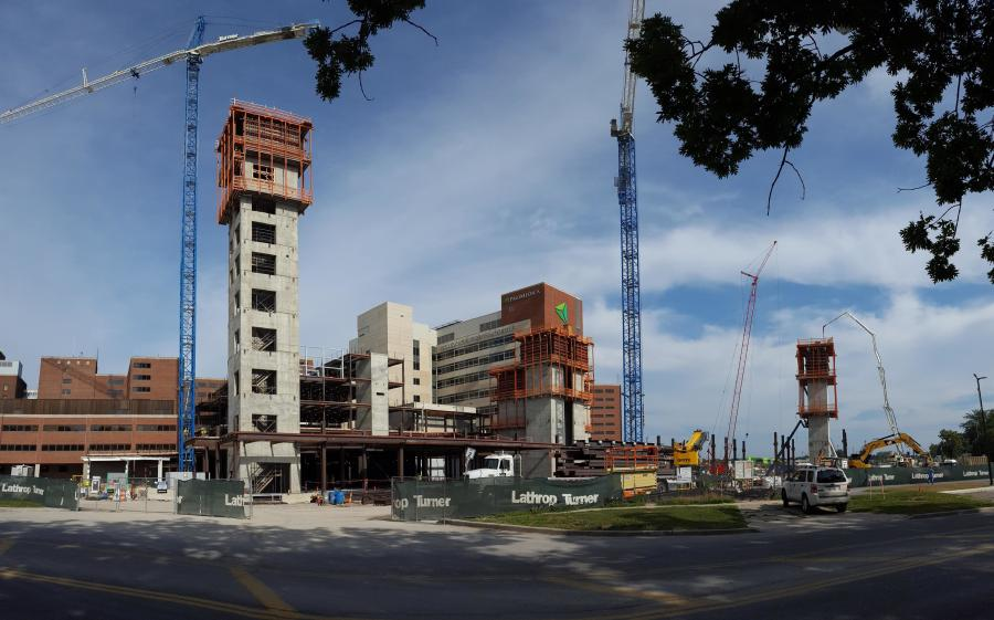 Lathrop Turner is building a $385 million, 13-story, L-shaped 302-bed patient care tower — Generations of Care Tower — on the campus of ProMedica Toledo Hospital.