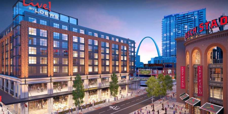 The Live! By Loews-St. Louis hotel will be across the street from Busch Stadium.