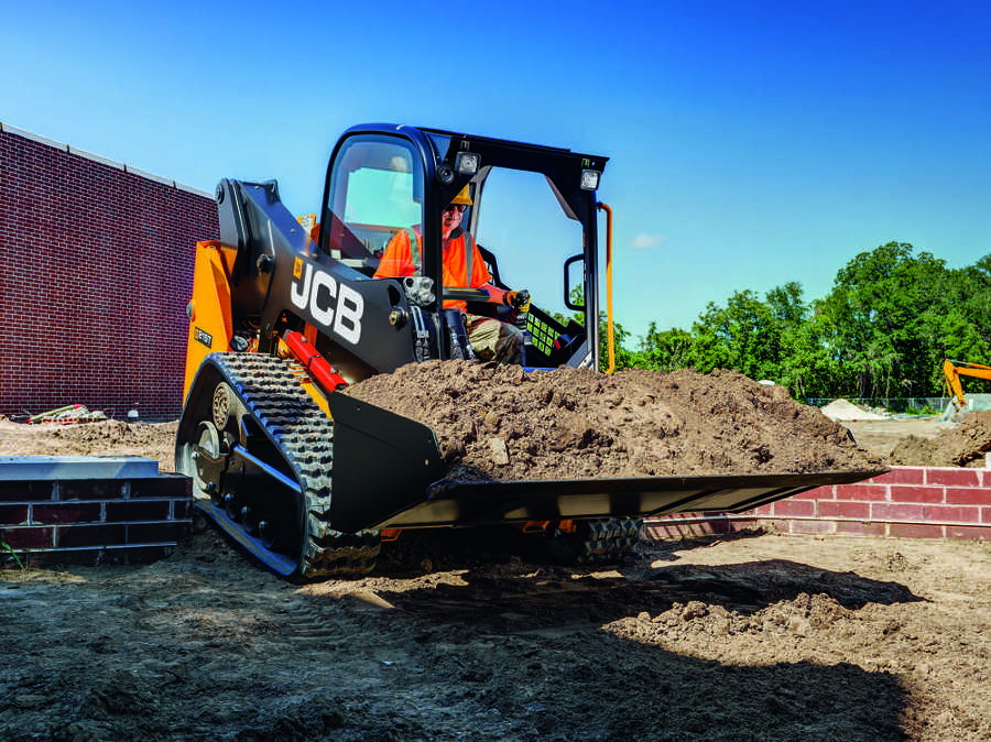 JCB's 210T and 215T compact track loaders weigh less than 10,000 lb. (4,536 kg) and are equipped with the 74 hp (55 kW) JCB Diesel by Kohler no-DPF, no-DEF engine more commonly found in the company's large-platform models.