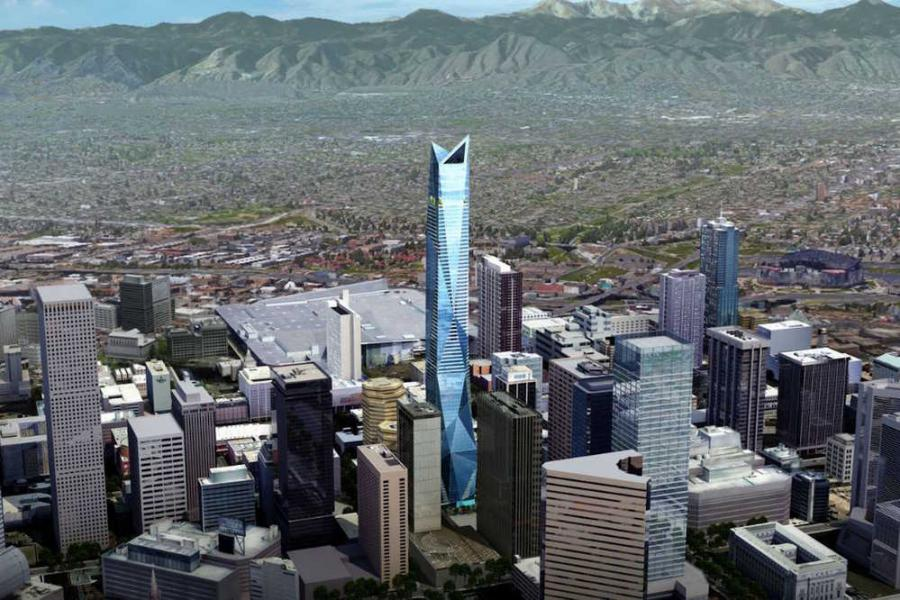 A New York City developer has plans on the drawing board that could dramatically alter the downtown Denver skyline and give the city an icon sure to stand out in this Rocky Mountain plains landscape.