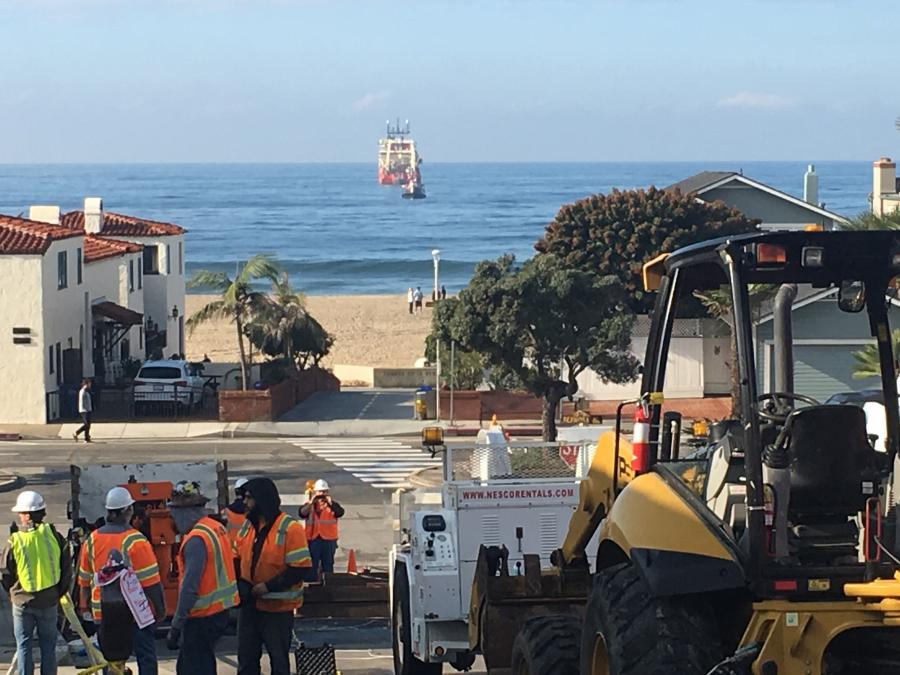 With the job sites located a block from the Hermosa Beach shoreline near expensive residential properties, ARB Underground was very cognizant to keep noise and other disruptions to a minimum.