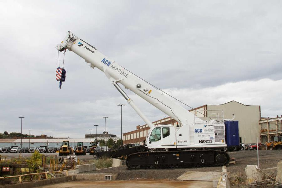 ACK Marine & General Contracting LLC in Quincy, Mass., bought a 2017 Tadano Mantis GTC1200 crane from Empire Crane Company.