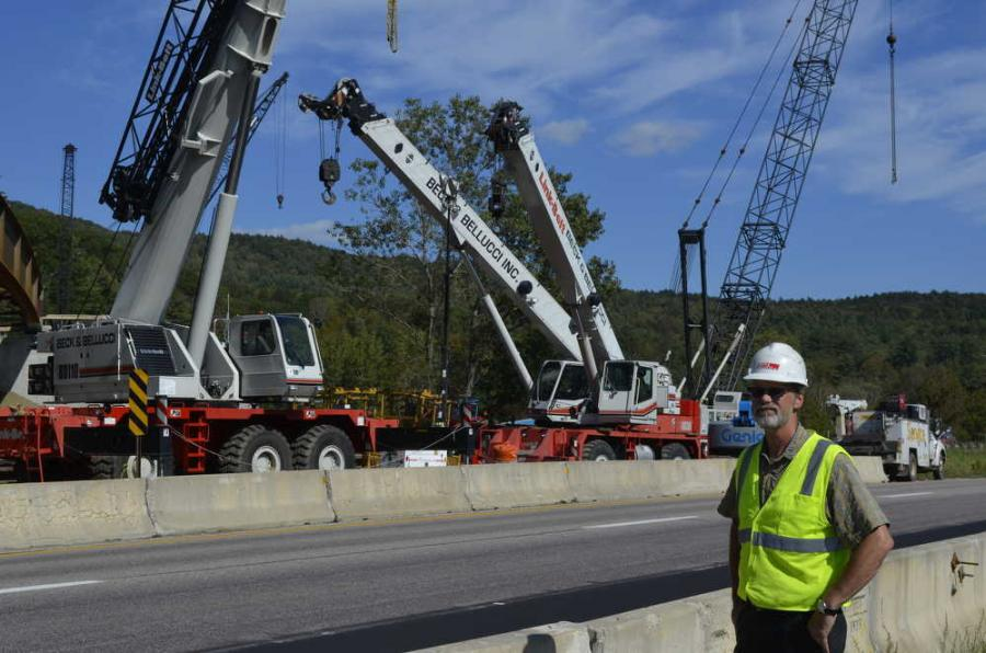 Dale Sackett, vice president of Beck & Bellucci, oversees the construction at all of Beck & Bellucci's bridge sites.