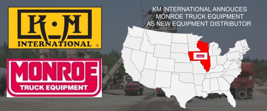 Monroe Truck Equipment will offer KM International's full equipment line of asphalt maintenance equipment including asphalt hotbox reclaimers, infrared recyclers and asphalt millings recyclers.
