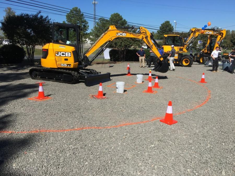 The contractors liked the smooth operation of the JCB 55Z-1 during the operator contest.