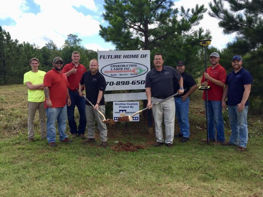 The staff of Construction Laser Inc. recently broke ground on the new headquarters facility at 1025 Henry Parkway Connector in McDonough, Ga.