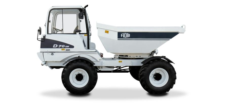The versatility of the D70 and D100 are in large part due to their 4WS maneuverability combined with the rigs' ability to dump left, right or straight off the back.