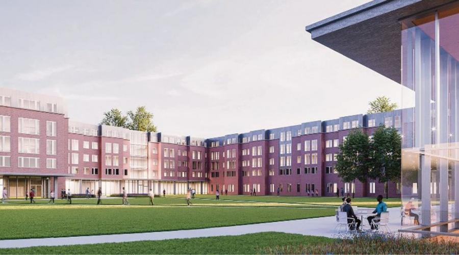 The planned new residence hall will house as many as 600 students.