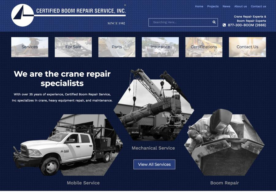 Certified Boom Repair has recently unveiled a new website.