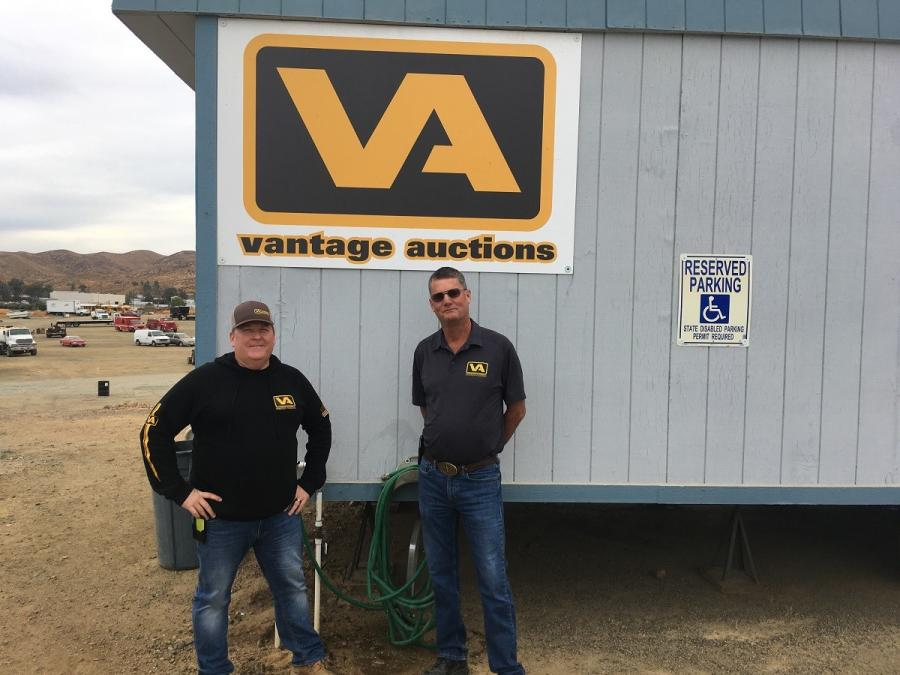 Robert LaMarsh, (L) president, and Brian Moening, vice president of Vantage Auctions, recently celebrated the company's first anniversary.