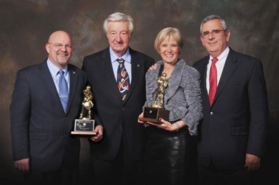 (L-R): Winners of the 2016 SIR Award are Assemblyman Ira Hansen; Past President Norm Dianda; SIR Award recipient Jeanette Belz; and former AGC Executive Director John Madole.