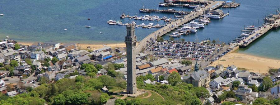 President William H. Taft was on hand to personally help dedicate the Pilgrim Monument on August 5, 1910. Since that date, approximately 10 million people have climbed its 116 steps and 60 ramps to experience a breathtaking 360-degree view of Cape Cod.