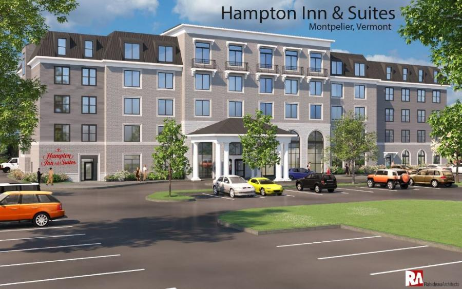 The Bashara family said that it plans to build an 89-room Hampton Inn and Suites behind the Capitol Plaza Hotel, which it owns.