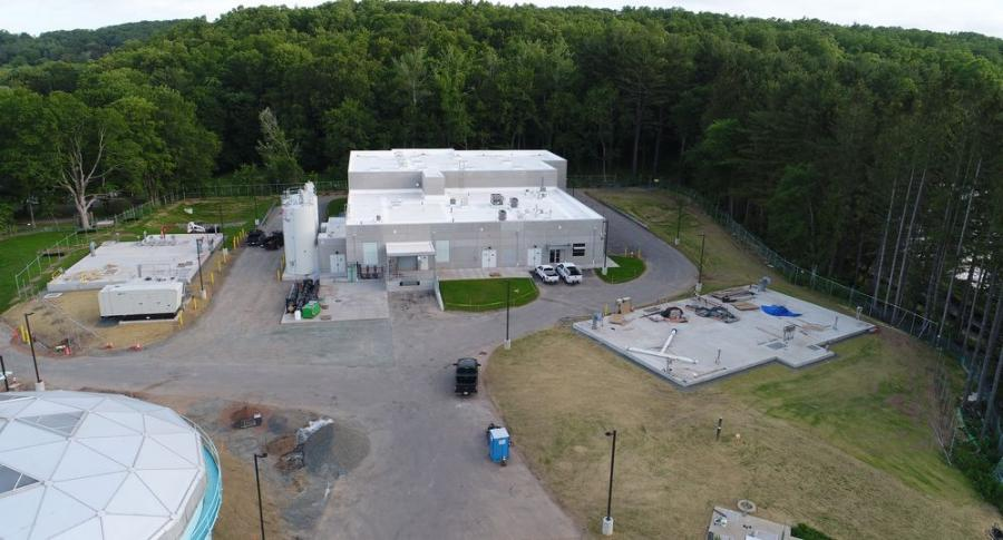 Connecticut Water's new Rockville Water Treatment Facility was completed at a cost of more than $30 million.