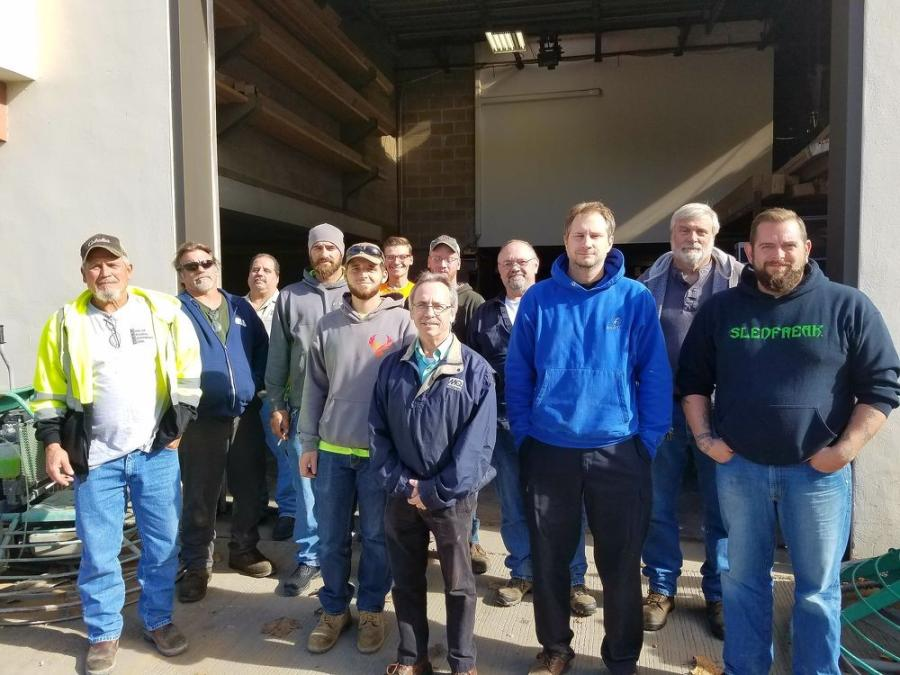 Eleven technicians from several concrete contractors in the tri-state area of Pennsylvania, New Jersey and Delaware attended the training seminar.
