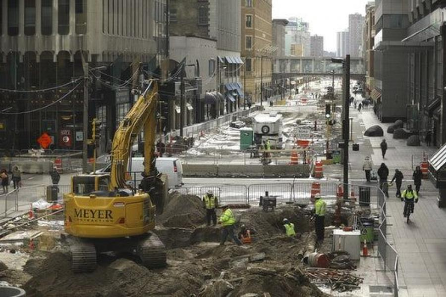 Nicollet Mall reopened Nov. 16 after more than two years of construction that cost $50 million.