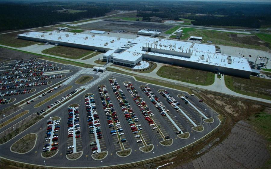 The Mercedes-Benz Tuscaloosa assembly plant.