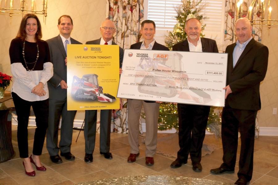 Wacker Neuson presented Fisher House Wisconsin, a local veteran's charity, with a donation of over $111,000 on behalf of our dealer AGF Machinery, Dothan, Ala. They outbid dozens of dealers for a special stars & stripes wrapped compact track loader to help an amazing organization.