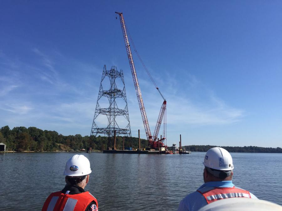 Cianbro is the latest company to take advantage of the barge-mounted benefits that Manitowoc crawler cranes with Variable Position Counterweight (VPC) offer.