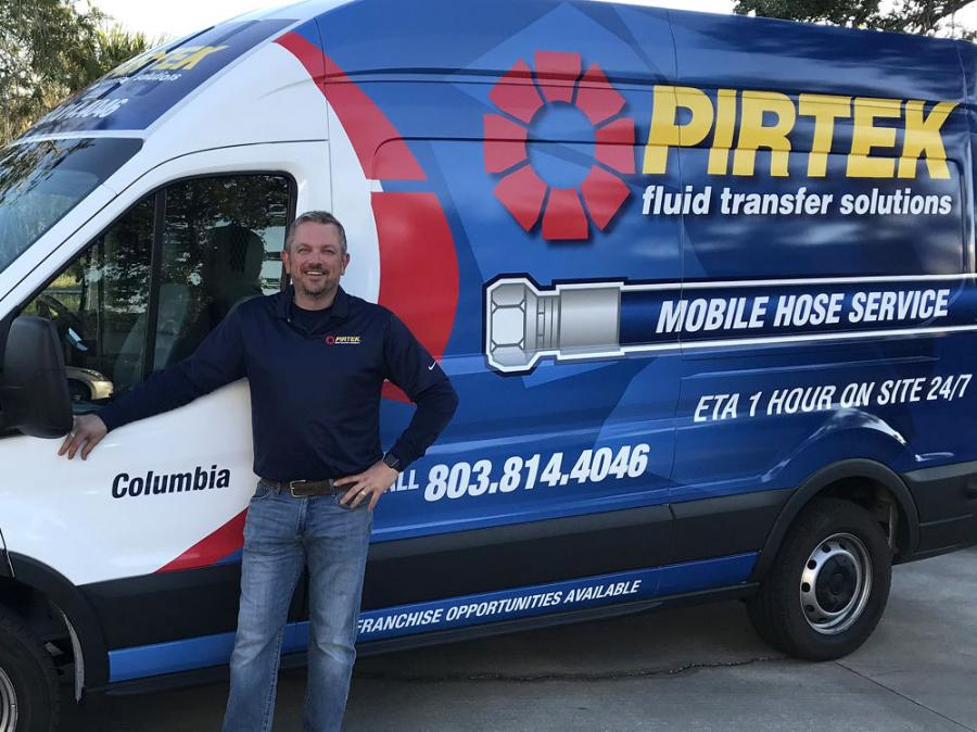 Jason Barrs opened his franchise, PIRTEK Columbia, under the company's Tier 2 model, which was rolled out last year.
