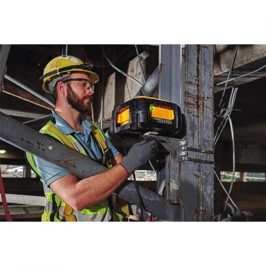 DeWalt Jobsite WiFi Access Points utilize the user's existing ISP to provide jobsite wireless internet coverage. With an operating temperature of -4°F to 122°F, the Access Points are IP67 rated to protect against dust and water submersion.