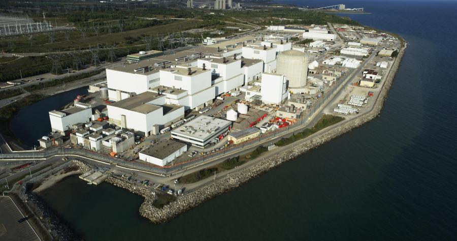 OPG's Darlington Nuclear Generating Station in Ontario, Canada. (Photo Credit: Business Wire)