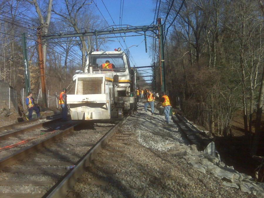 Using accelerated rail replacement techniques, the MBTA's Track Department has accomplished the installation of five hundred or more feet of new track in three-hour segments during overnight hours, work that previously took entire weekends to complete.