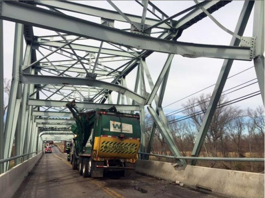 The Maryland Department of Transportation State Highway Administration (MDOT SHA) has closed the MD 355 (Urbana Pike) Bridge over the Monocacy River in Frederick County after it was struck by a commercial vehicle.