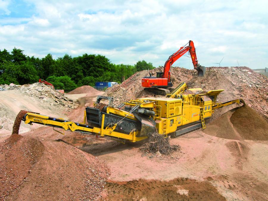 Following fully hybrid H4 cone crushers and B4e jaw crushers, Keestrack is now introducing the R5e hybrid impact crusher unit, designed to guarantee full capacity at low consumption costs with the aid of a directly driven 350 t/h crusher and electrical transport and screen components.