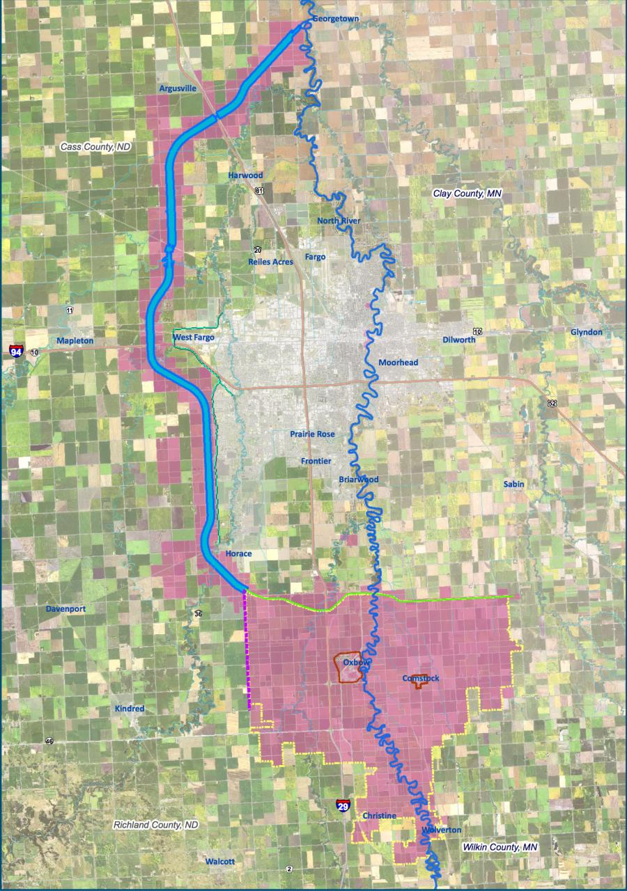 FM area diversion and flood mitigation area.